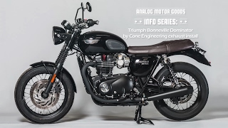 Analog Motor Goods - Triumph Bonneville T120 Cone Engineering Dominator  Exhaust Kit Install by AnalogMotorcycles