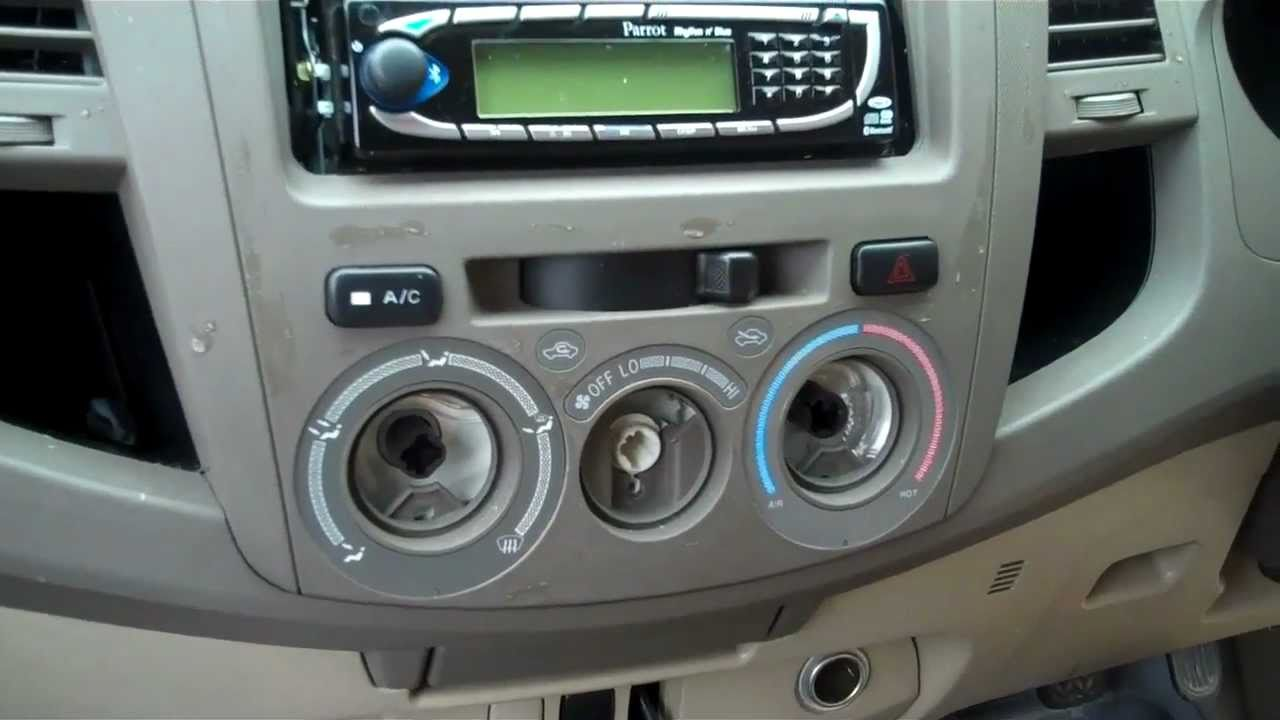 How To Remove The Centre Dash Panel On Toyota Hilux Mk6 Vi