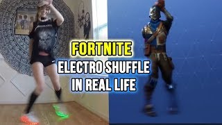 "Fortnite Dance ""ELECTRO SHUFFLE"" in REAL LIFE! (Original Video 2018)"