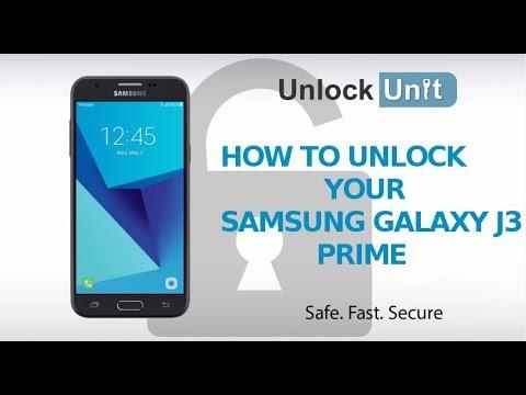 HOW TO UNLOCK Samsung Galaxy J3 Prime