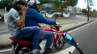 Encontro de moto em Saquarema com a família moto loucos