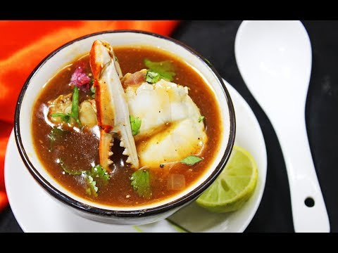 Crab Soup (Little Spicy & Sour) (Restaurant Style) - Chef Lall's Kitchen