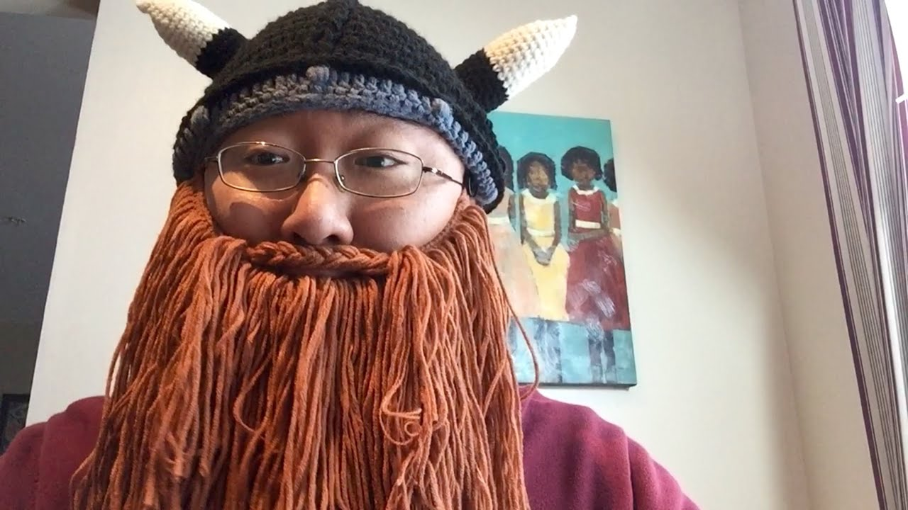Viking Barbarian Beard Mustache Knit Hat Beanie - YouTube 36e9725870c