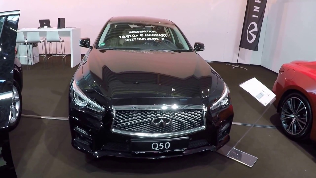 Infiniti Q50 Sedan Black Colour Walkaround And Interior Model 2017