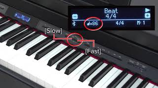 """Using the Metronome"" Roland GP / LX / HP / DP series #04"