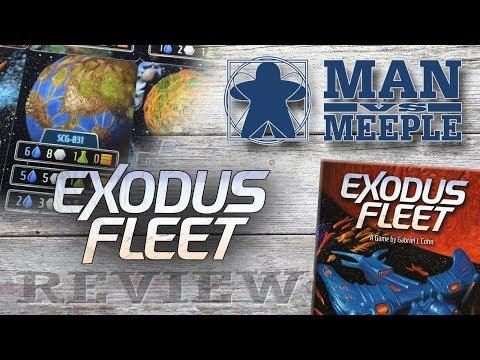 Exodus Fleet (Tasty Minstrel Games) Review by Man Vs Meeple