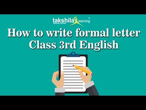 Cbse Class 3 English Letter Writing Formal Letter Ncert Solution
