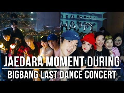 JAEDARA Moment During BIGBANG Last Dance Concert
