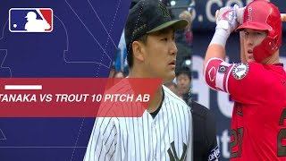 Masahiro Tanaka strikes out Mike Trout after 10-pitch at-bat