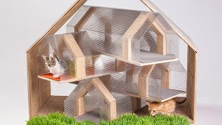 КОШКА в доме. ДОМИКИ, ПОЛКИ, когтеточки  и мягкие места для кошек