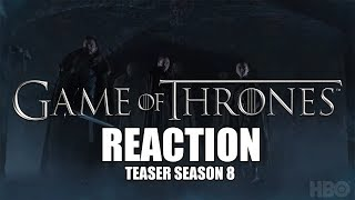 Reaction - Game of Thrones  Season 8  Official Teaser Crypts of Winterfell ITA