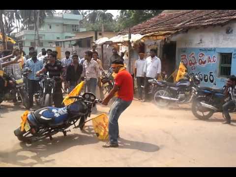 uppala Siva bike stunt in Tdp Rally