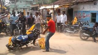 uppala Siva bike stunt in Tdp Rally