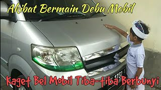GOKIL Bel Mobil Tiba-Tiba Berbunyi Gara-gara Asyik Corat Coret Debu Mobil ll Prank Lucu
