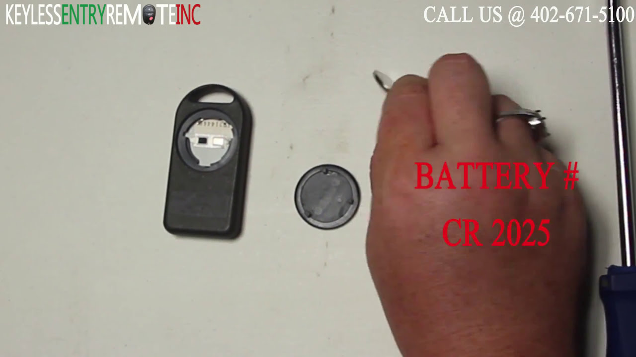 How To Replace Cadillac Eldorado Key Fob Battery 1989 1990 Youtube