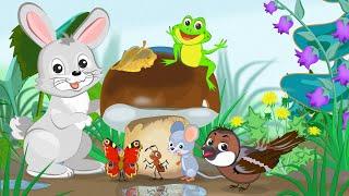ГРИБОК-ТЕРЕМОК - МУЛЬТИК для ДЕТЕЙ. Детская Добрая Сказка на Ночь Теремок. Мультики про Животных.