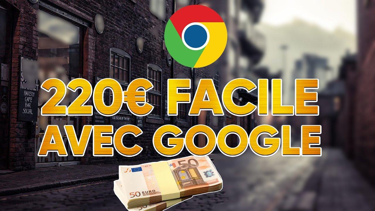 Comment gagner +220€ Facile avec Google !?  Nouvelle Méthode