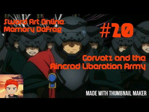 CORVATZ and the AINCRAD LIBERATION ARMY | Sword Art Online: Memory Defrag #20 (Mobile Gameplay)