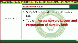 Most of the area is. Forest Nursery Layout And Preparation Of Nursery Beds Youtube