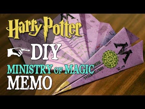 DIY Ministry of Magic Memo
