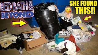 BED BATH & BEYOND MANAGER FILLED THEIR DUMPSTER WITH CLEARANCE ITEMS! *MAJOR SCORE!
