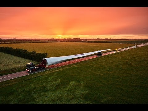 Transporting the world's longest wind turbine blade: LM 88.4 P