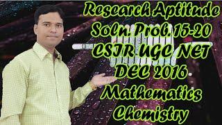 163.  UGC-CSIR NET  General Aptitude prob 15-20   Mathematical,Chemical Science Dec 2016 @ 4/4