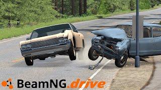 Lajwidło (#73) - KOLIZJE SAMOCHODOWE Z DUŻĄ PRĘDKOŚCIĄ W BeamNG.Drive
