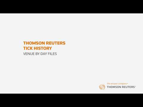 Thomson Reuters Tick History – Part 2 – Venue By Day Files