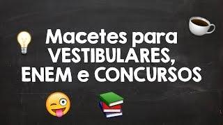 Dicas e Macetes para se dar bem em Vestibulares, ENEM e Concursos | Matemática Genial