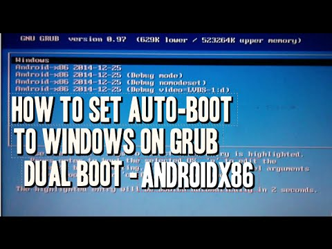 Androidx86 Automatically boot Windows on Grub dual boot