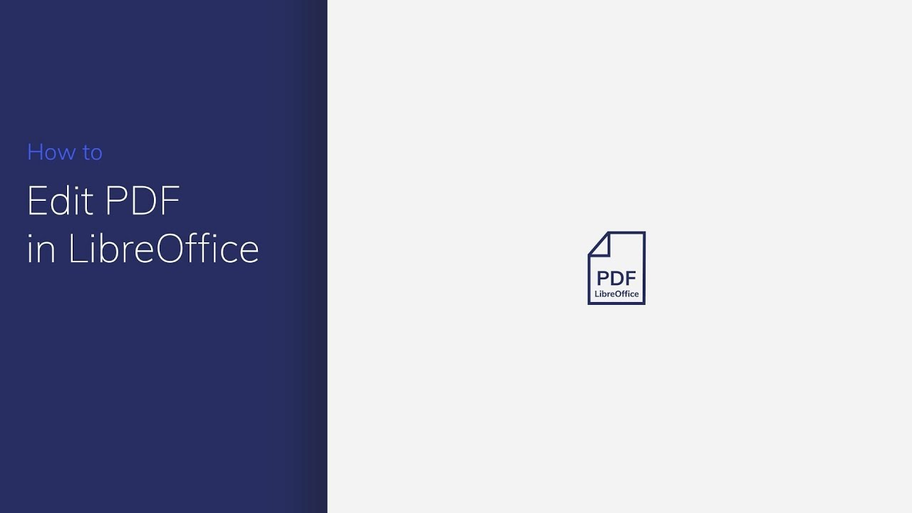 How to Edit PDF in LibreOffice