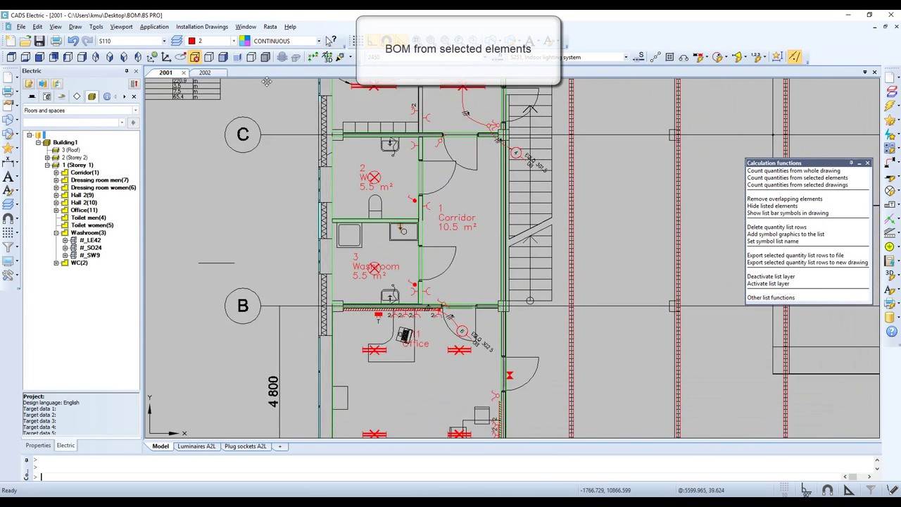 Electrical design in installation drawings | CADS