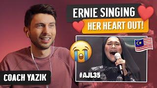 Download YAZIK reacts to GUNDAH Ernie Zakri   AJL35 BEST VOCAL