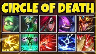 CIRCLE OF DEATH COMP 2019 (NUKE ENTIRE TEAMS) THE MOST OP COMP EVER - League of Legends