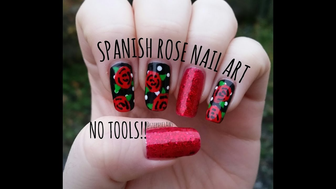 Spanish inspired rose nail art tutorial no tools needed spanish inspired rose nail art tutorial no tools needed stephyclaws prinsesfo Gallery