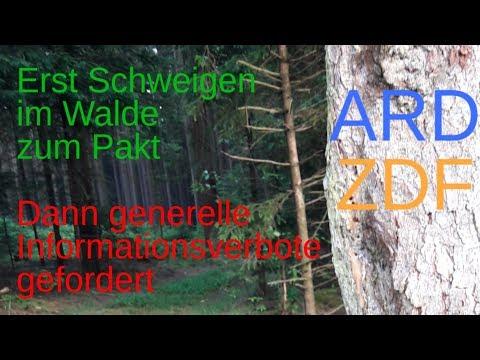 ARD-ZDF: Erst Schweigen im Walde zum Pakt, dann generelle Informationsverbote erkunden