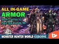 All Armors Through Master Rank 99 Plus Skills | Monster Hunter World Iceborne