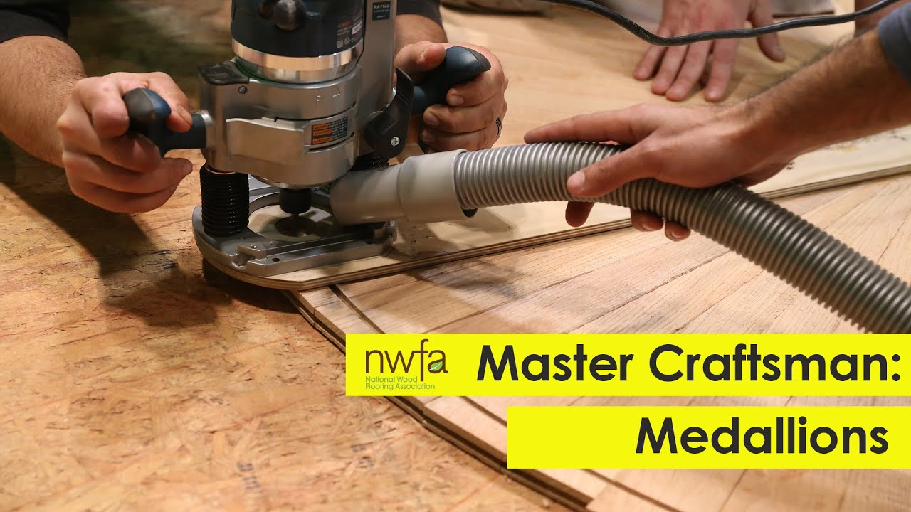 How to make wooden flooring - Learn How To Make Custom Wood Flooring Medallions Wood Flooring Training Youtube