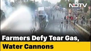 Farmer's Protest: Farmers vs Haryana Police In Karnal Over