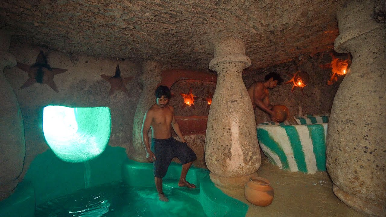 Download How To Build The Survival Temple Secret Underground House Water Slide To Swimming Pool
