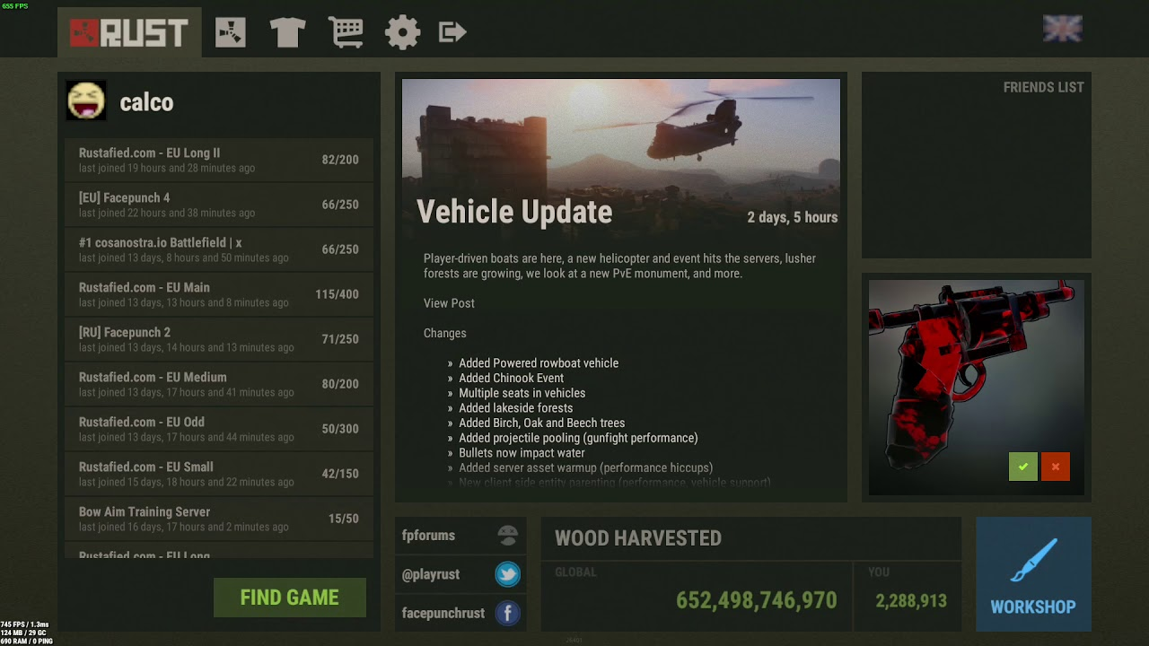Rust Best In game settings/commands for FPS/PVP advantages