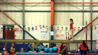 Mickleover Gymnastics - Mia on the Beam at Flic Flac