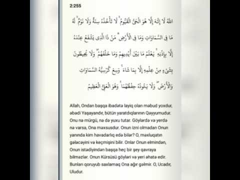 AYETEL - KURSİ ABDULBASİT azerice