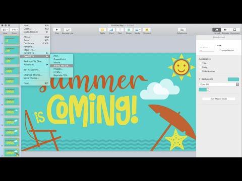 How to Make an Animated GIF Using Keynote