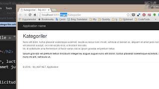 ASP.NET MVC Proje Oluşturma Controller ve View Bölüm 2