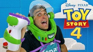 Toy Story 4 Buzz Lightyear Space Ranger Armor & Disc Blaster ! || Disney Toy Review || Konas2002