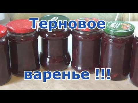 Как приготовить варенье из терна (рецепт)