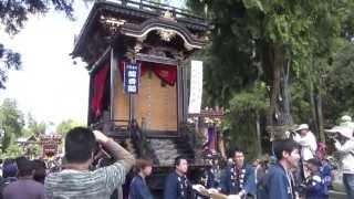 2013年 日野祭⑭ 河原田町曳山(蘭香閣) 引取り(宮出)