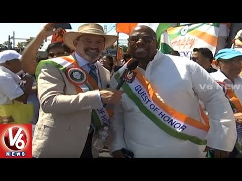 Independence Day Celebrations Organised By Indian Business Association || V6 USA NRI News